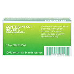 CONTRAINFECT Hevert Erkältungstabletten 100 Stück N1 - Oberseite