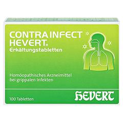 CONTRAINFECT Hevert Erkältungstabletten 100 Stück N1 - Vorderseite