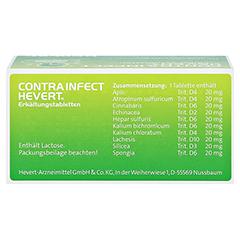 CONTRAINFECT Hevert Erkältungstabletten 100 Stück N1 - Unterseite