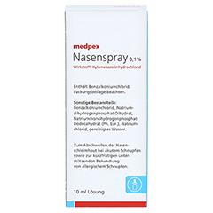 medpex Nasenspray 0,1% 10 Milliliter N1 - Rückseite