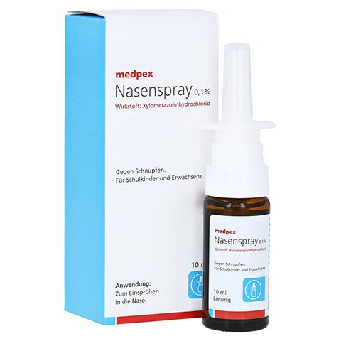 medpex Nasenspray 0,1% 10 Milliliter N1