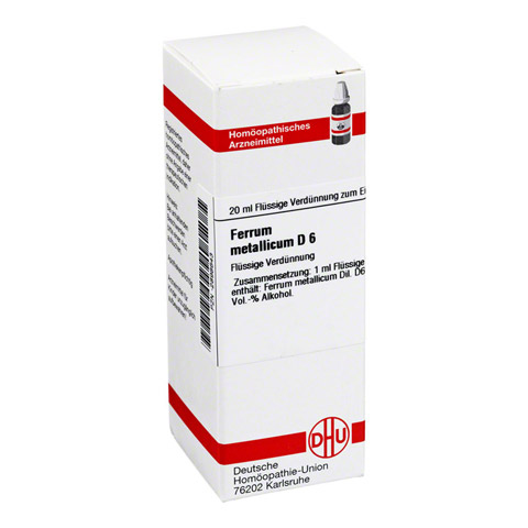 FERRUM METALLICUM D 6 Dilution 20 Milliliter N1