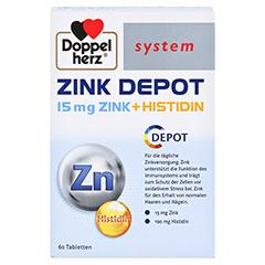 DOPPELHERZ Zink Depot system Tabletten 60 Stück - Vorderseite