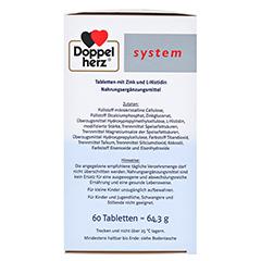 DOPPELHERZ Zink Depot system Tabletten 60 Stück - Rechte Seite