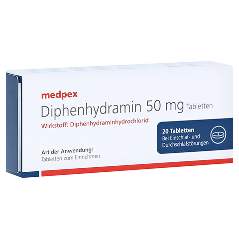 medpex Diphenhydramin 50mg 20 Stück N2