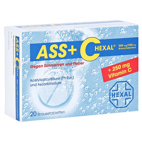 ASS+C HEXAL gegen Schmerzen und Fieber 20 Stück