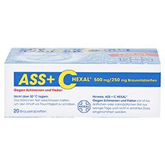 ASS+C HEXAL gegen Schmerzen und Fieber 20 Stück - Unterseite