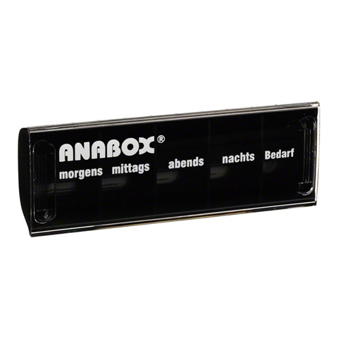 ANABOX Tagesbox schwarz 1 Stück