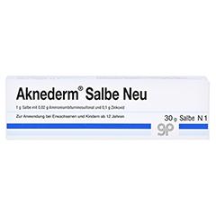 Aknederm Salbe Neu 30 Gramm N1 - Vorderseite