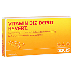 VITAMIN B12 DEPOT Hevert Ampullen 10 Stück N2