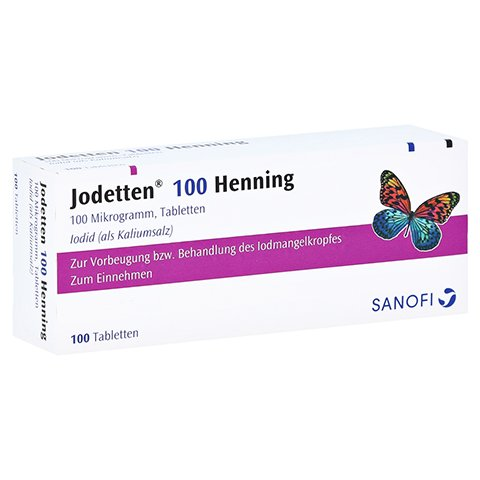 Jodetten 100 Henning 100Mikrogramm 100 Stück N3