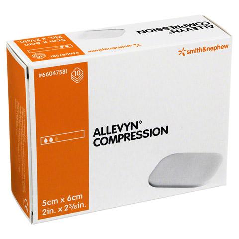 ALLEVYN Compression 5x6 cm hydrosel.Wundauflage 10 Stück