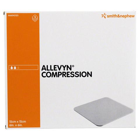 ALLEVYN Compression 15x15 cm hydrosel.Wundauflage 3 Stück