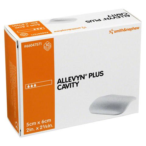 ALLEVYN Plus Cavity 5x6 cm hydroselekt.Wundaufl. 10 Stück