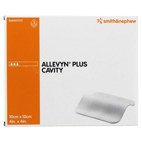 ALLEVYN Plus Cavity 10x10 cm hydroselekt.Wundaufl. 5 Stück