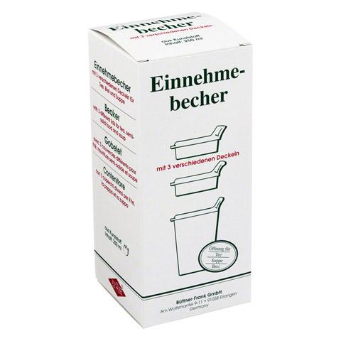 EINNEHMEBECHER Kunststoff m.3 Trinkdeckel 1 Stück