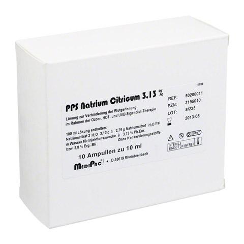 NATRIUMCITRAT 3,13% Ampullen 10x10 Milliliter