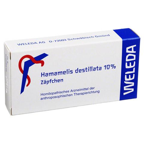HAMAMELIS DESTILLATA 10% Suppositorien 10 Stück N1