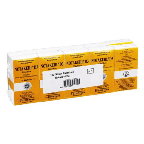 NOTAKEHL D 3 Suppositorien 10x10 Stück N3