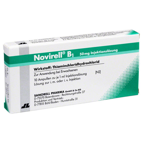 NOVIRELL B1 50 mg Injektionslösung 10x1 Milliliter N2