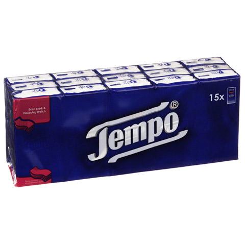 TEMPO Taschentücher ohne Menthol 5404 15x10 Stück
