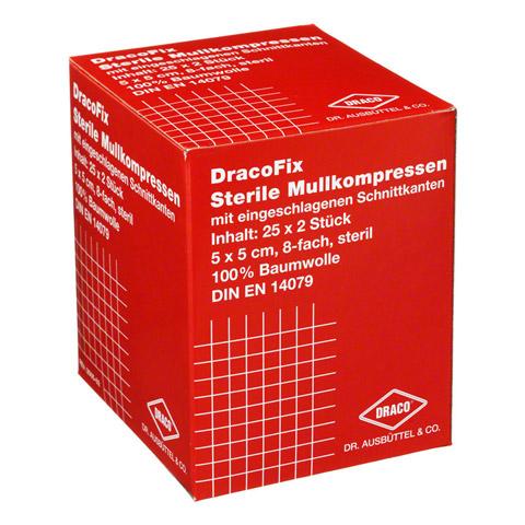 DRACOFIX PEEL Kompressen 5x5 cm steril 8fach 25x2 Stück