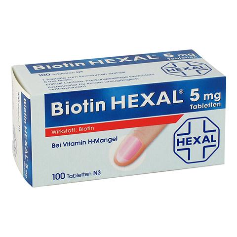 BIOTIN HEXAL 5 mg Tabletten 100 Stück N3