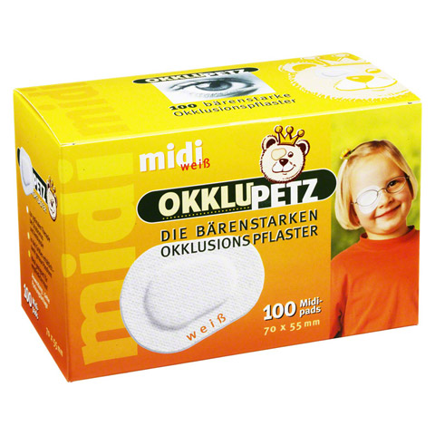 OKKLUPETZ Okklusionspflaster midi weiß 100 Stück