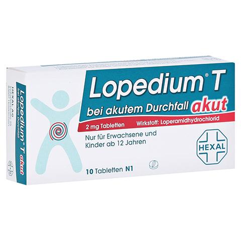 Lopedium T akut bei akutem Durchfall 10 Stück N1