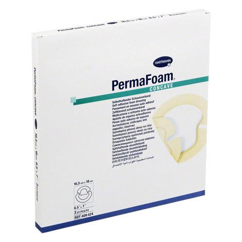 PERMAFOAM Concave Schaumverband 16,5x18 cm 3 Stück
