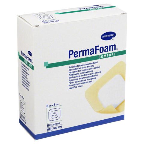 PERMAFOAM Comfort Schaumverband 8x8 cm 10 Stück