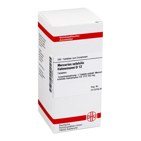 MERCURIUS SOLUBILIS Hahnemanni D 12 Tabletten 200 Stück N2