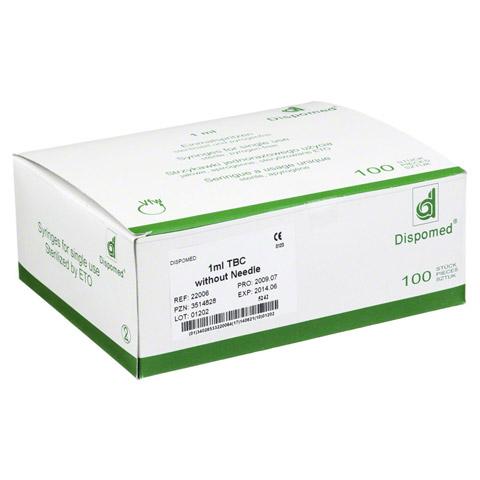 DISPOMED TBC Spritze 1 ml o.Kanüle 100 Stück