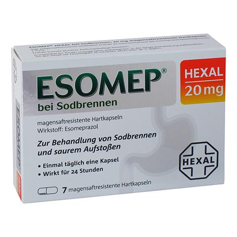 ESOMEP HEXAL bei Sodbrennen 20mg 7 Stück