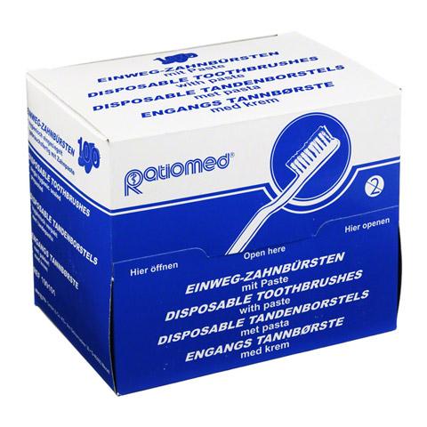 Einmal Zahnbürste m.Zahnpasta 100 Stück