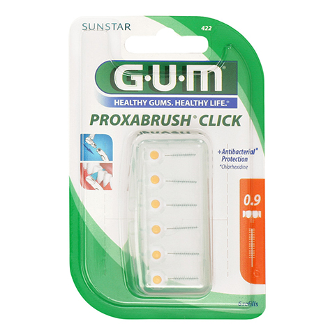 Gum Proxabrush Click Nachf.0,5 mm Kerze 6 Stück