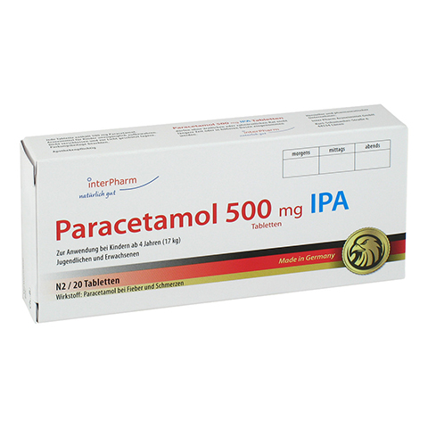 Paracetamol 500mg IPA 20 Stück N2