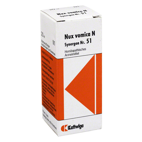 SYNERGON KOMPLEX 51 Nux Vomica N Tropfen 20 Milliliter