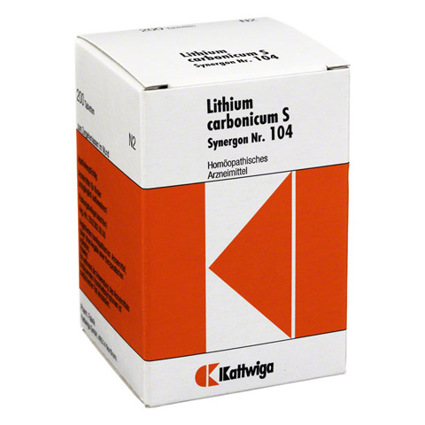SYNERGON KOMPLEX 104 Lithium carbonicum S Tabl. 200 Stück