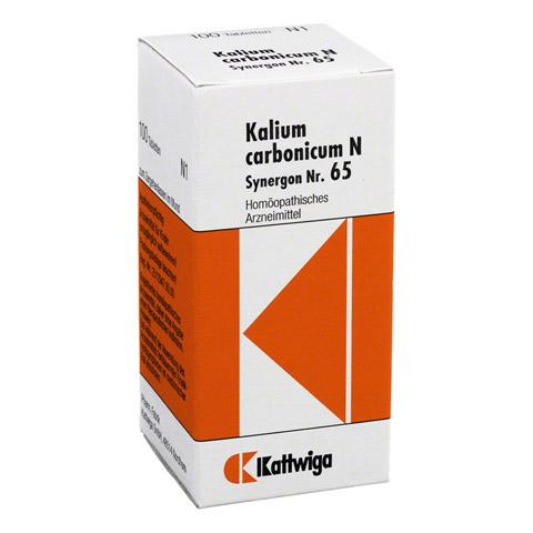 SYNERGON KOMPLEX 65 Kalium carbonicum N Tabletten 100 Stück