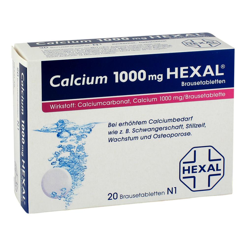 calcium 1000mg hexal 20 st ck n1 online bestellen medpex. Black Bedroom Furniture Sets. Home Design Ideas