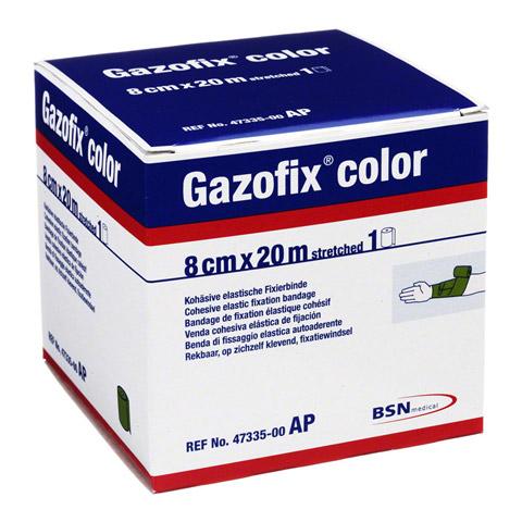 GAZOFIX color Fixierbinde 8 cmx20 m grün 1 Stück