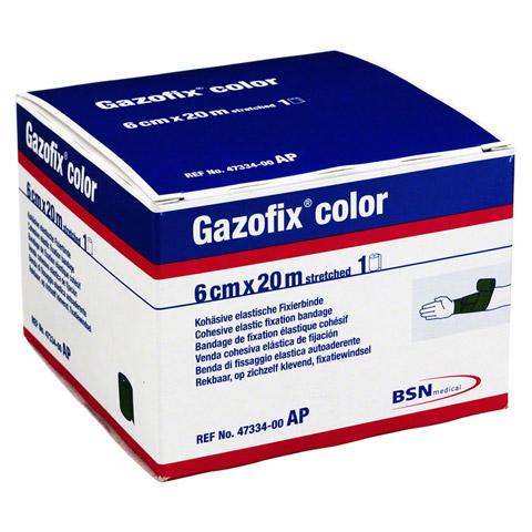 GAZOFIX color Fixierbinde 6 cmx20 m grün 1 Stück