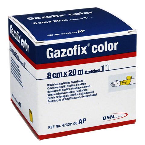 GAZOFIX color Fixierbinde 8 cmx20 m gelb 1 Stück