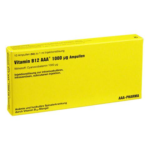 Vitamin B12 AAA 1.000 µg Ampullen 10x1 Milliliter N2