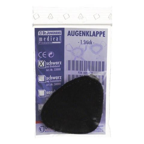AUGENKLAPPE mit Bindeband schwarz 33000 1 Stück
