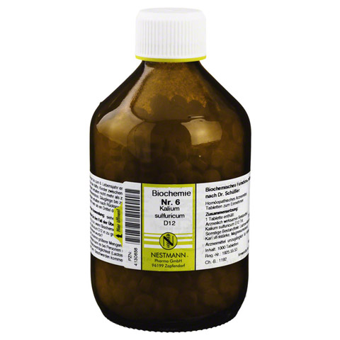 BIOCHEMIE 6 Kalium sulfuricum D 12 Tabletten 1000 Stück