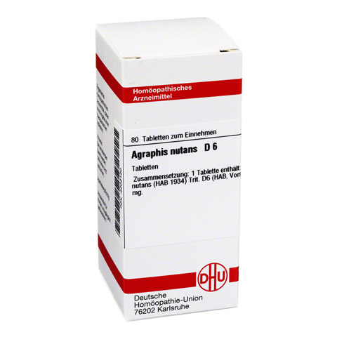 AGRAPHIS NUTANS D 6 Tabletten 80 Stück N1