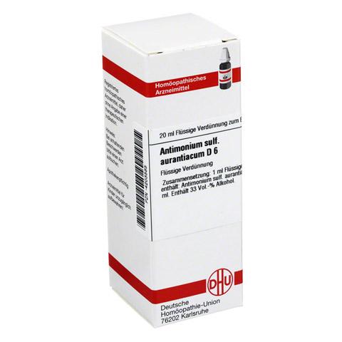 ANTIMONIUM SULFURATUM aurantiacum D 6 Dilution 20 Milliliter N1