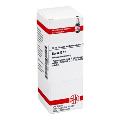 BORAX D 12 Dilution 20 Milliliter N1